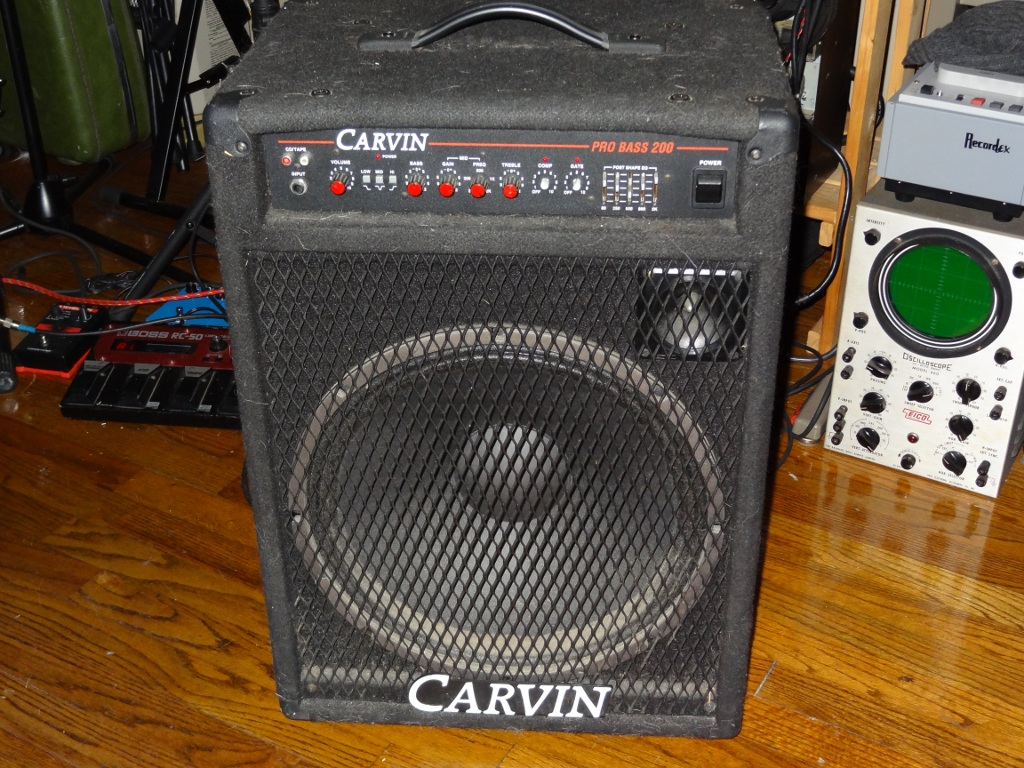 And here we have a solid 160W solid-state bass amp with an RCA input on the  front. this amp was brought to me with the complaint of really low volume  on the ...