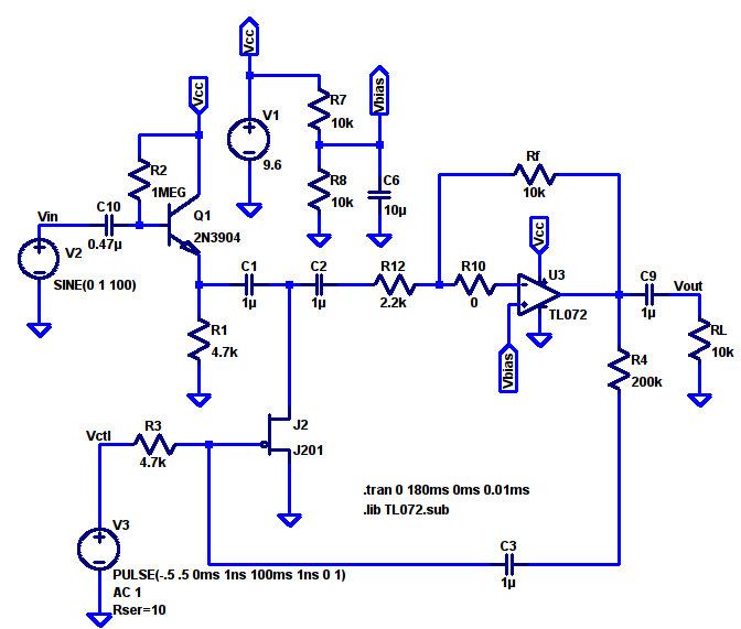Basic Voltage-Controlled Amplifier – notes to self on